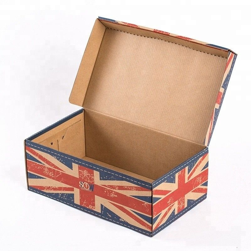 CMYK 4 Color Printing Corrugated Paper Box For Sports Shoes Packaging