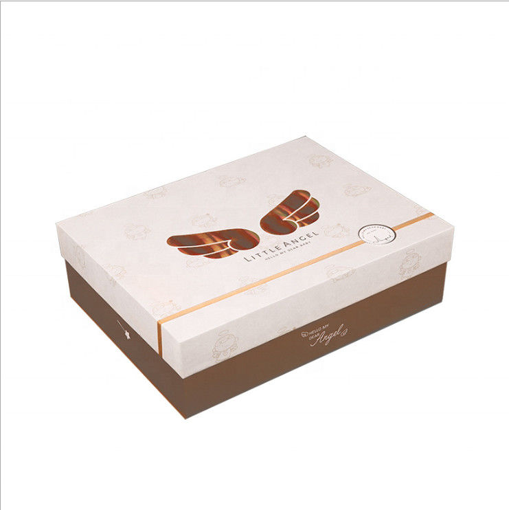 CMYK 4 Color Printing Custom Clothing Boxes Biodegradable Paper Material
